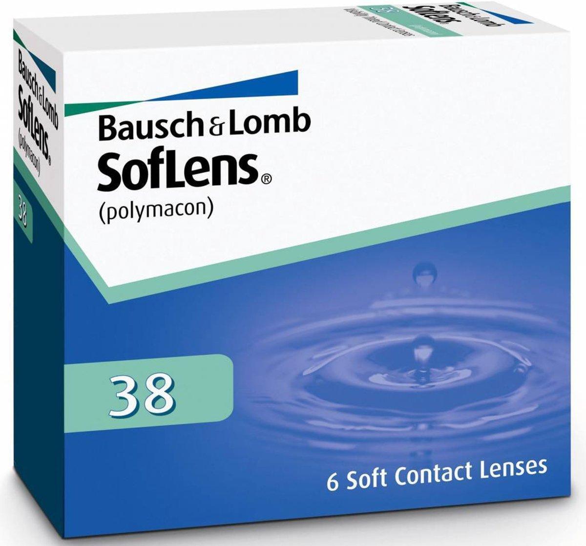 Foto van -0,00 SofLens 38 - 6 pack - Maandlenzen - Contactlenzen
