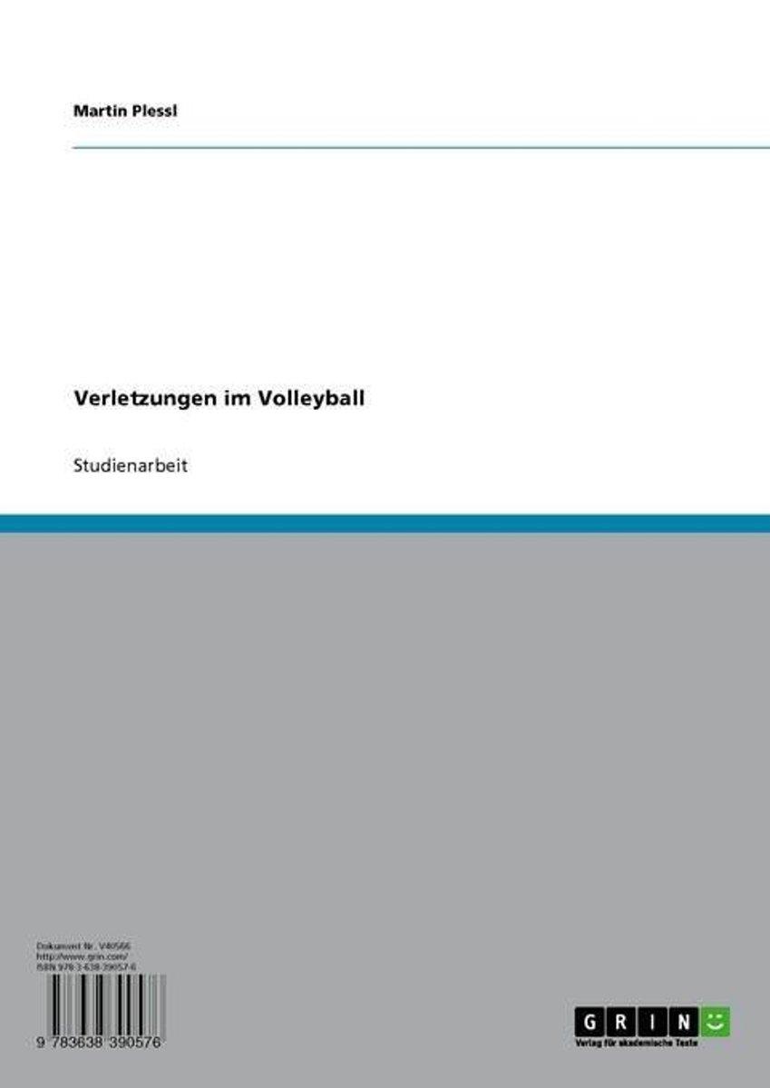 bol.com | Verletzungen im Volleyball (ebook), Plessl, Martin ...
