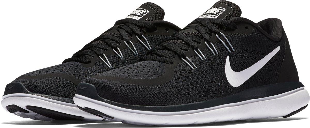 Nike Wmns Flex 2017 Rn Hardloopschoenen Dames BlackWhite Anthracite Wolf Grey