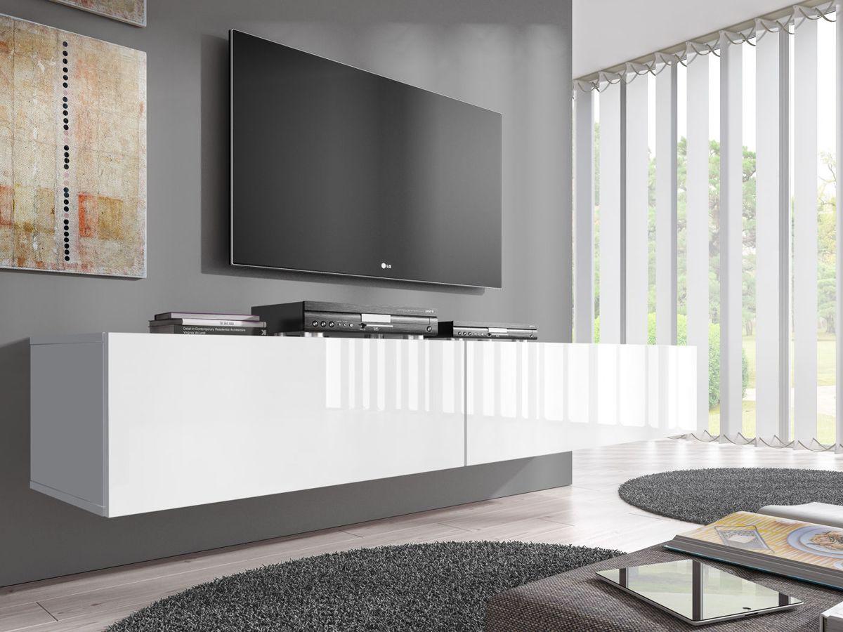 Tv Kast 40 Diep.Meubella Tv Meubel Flame Wit 200 Cm 2x 100