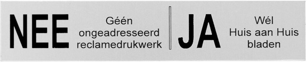 NEE JA sticker brievenbus sticker nee ja bordje aluminium zwart zeefdruk. Ja Nee sticker nee ja bordje aluminium zwart zeefdruk. Nee ja sticker brievenbus collectie.sticker brievenbus collectie.