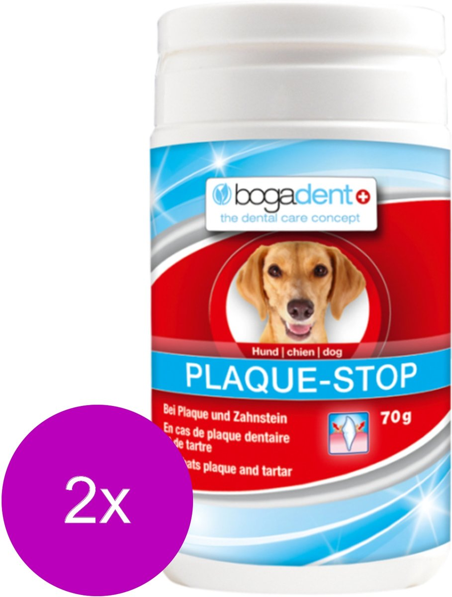 Bogadent Dental Plaque-Stop Poeder - Gebitsverzorging - 2 x 70 g kopen
