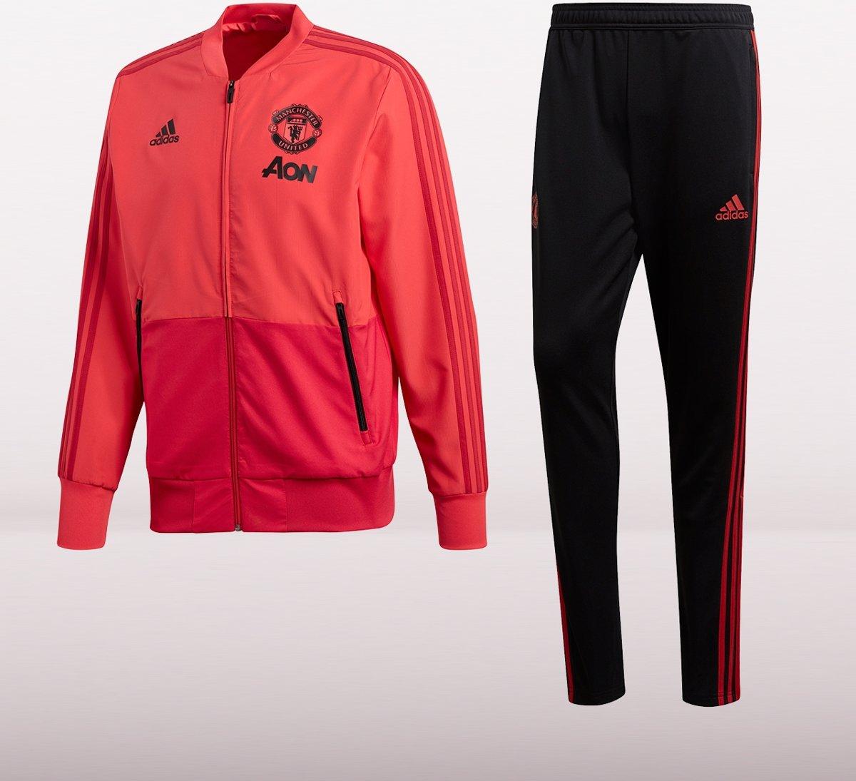 5e7ce1c6ce9 bol.com | Adidas Manchester United Trainingspak 2018/2019 Heren - Zwart /Oranje