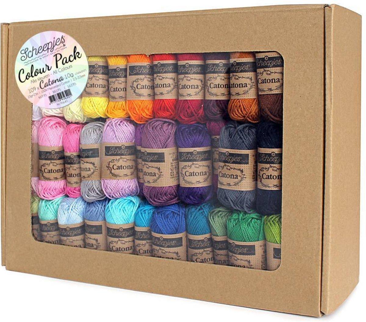 6a003a59eea Scheepjes Catona Colour Pack - 109 kleuren x 10 gram (mini bolletjes)