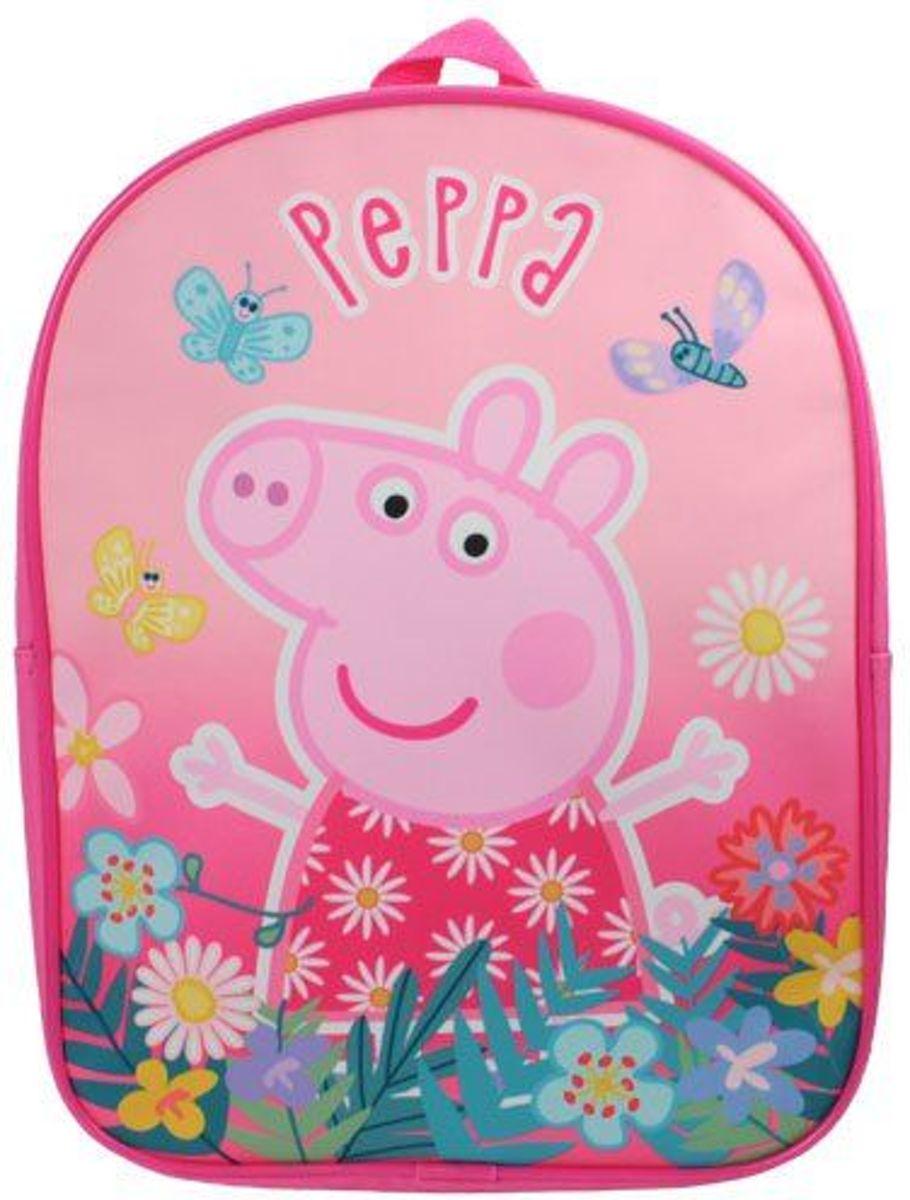 Roze PEPPA PIG Bloemen & Vlinders Rugzak Rugtas School Tas 2 5 Jaar