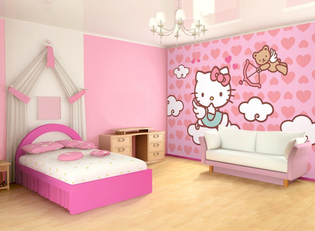 Behang Kinderkamer Roze : Interieur van de kinderkamer u stockfoto photographee eu