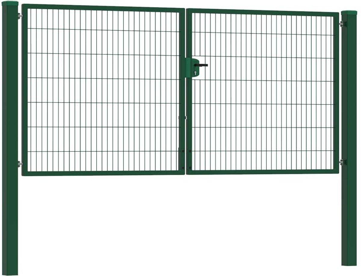 Dubbele tuinpoort 300 (bxh) Groen RAL6009 premium