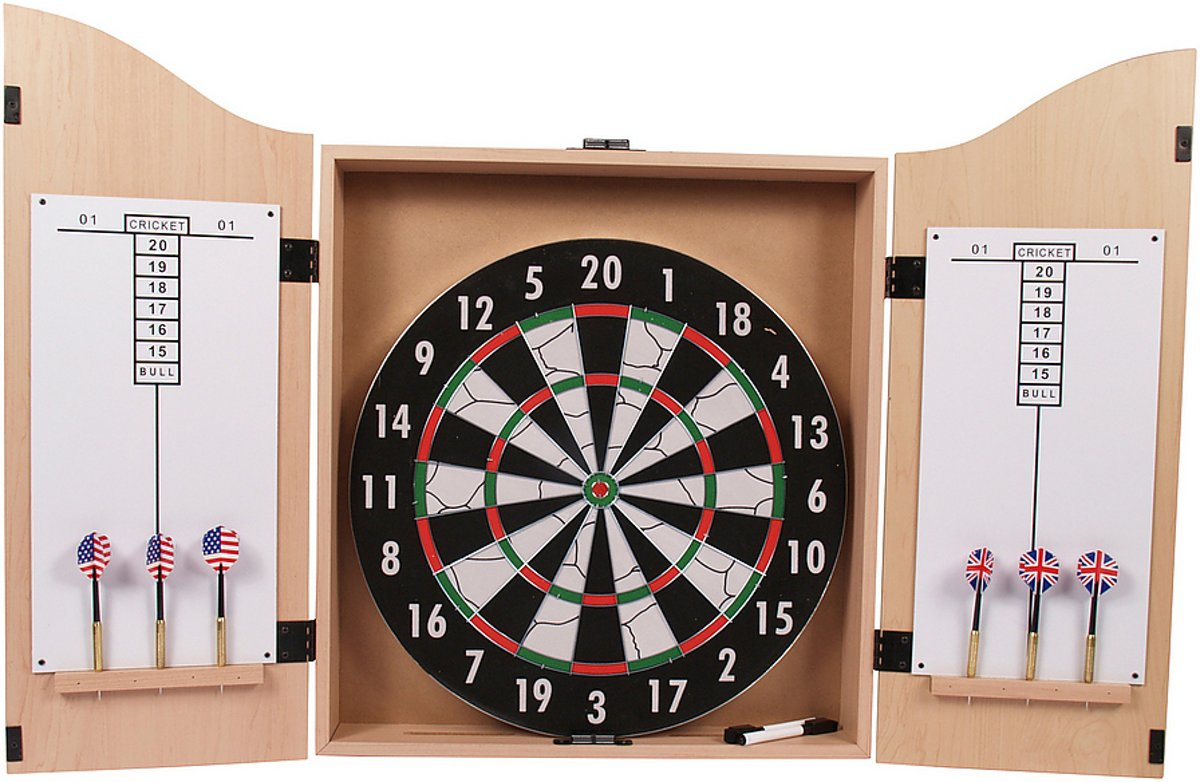 Dartbord Met Kast : Bol surround dartkabinet inclusief dartbord