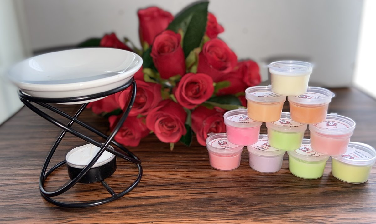 Wax Melts (parfum)geuren verrassingspakket met 10 geuren incl. DHHM | Aromabrander | Geurbrander | Schotel
