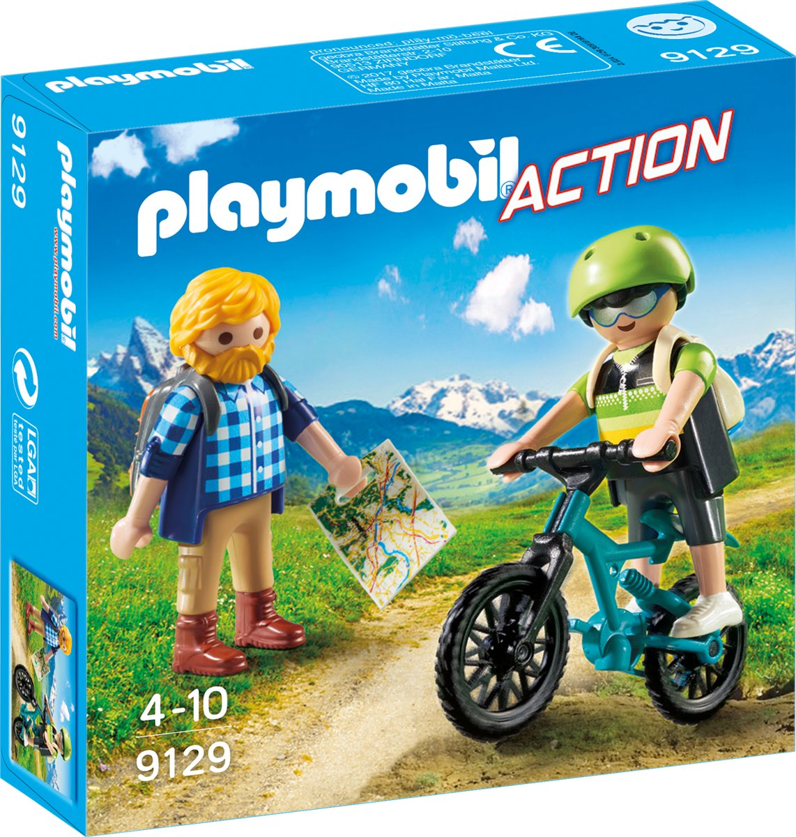 PLAYMOBIL Wandelaar en mountainbiker  - 9129