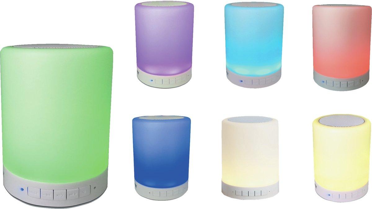 Denver BTL-30 - Bluetooth speaker met verlichting en radio - Wit kopen