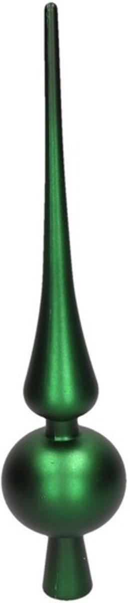 Groene kerstboom piek 28 cm mat/matte - Kunststof/plastic - Onbreekbare kerstboomversieringen groen kopen