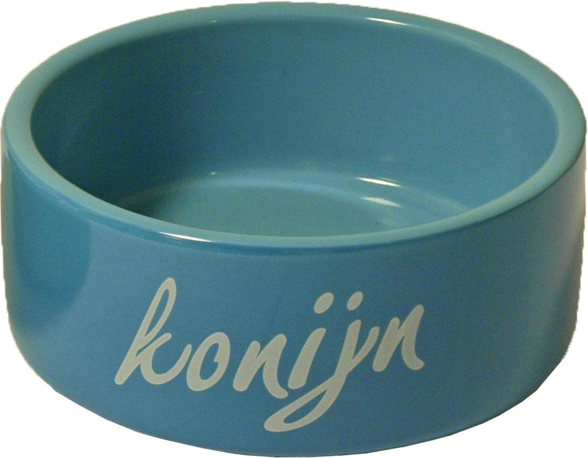 Eetbak Steen Konijn - Blauw - 12 cm