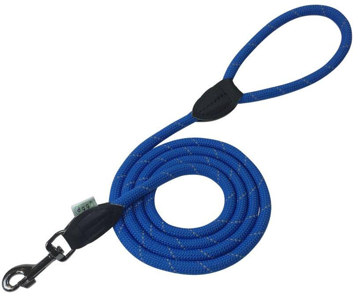 Dogogo hondenlijn met handvat, 1 m x 12 mm, blauw kopen