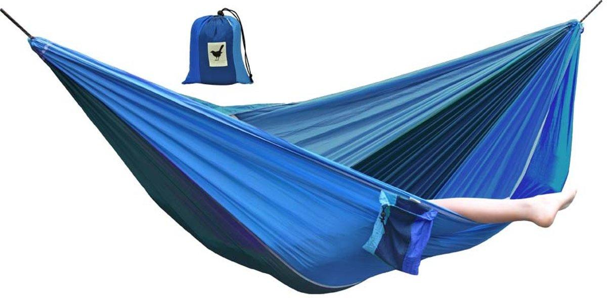 MoreThanHip Hangmat - Blauw/Marine - Parachutestof