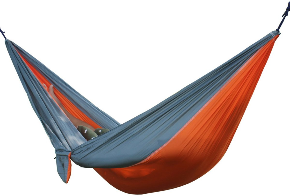 Luxe, Duurzame hangmat Grijs/Oranje