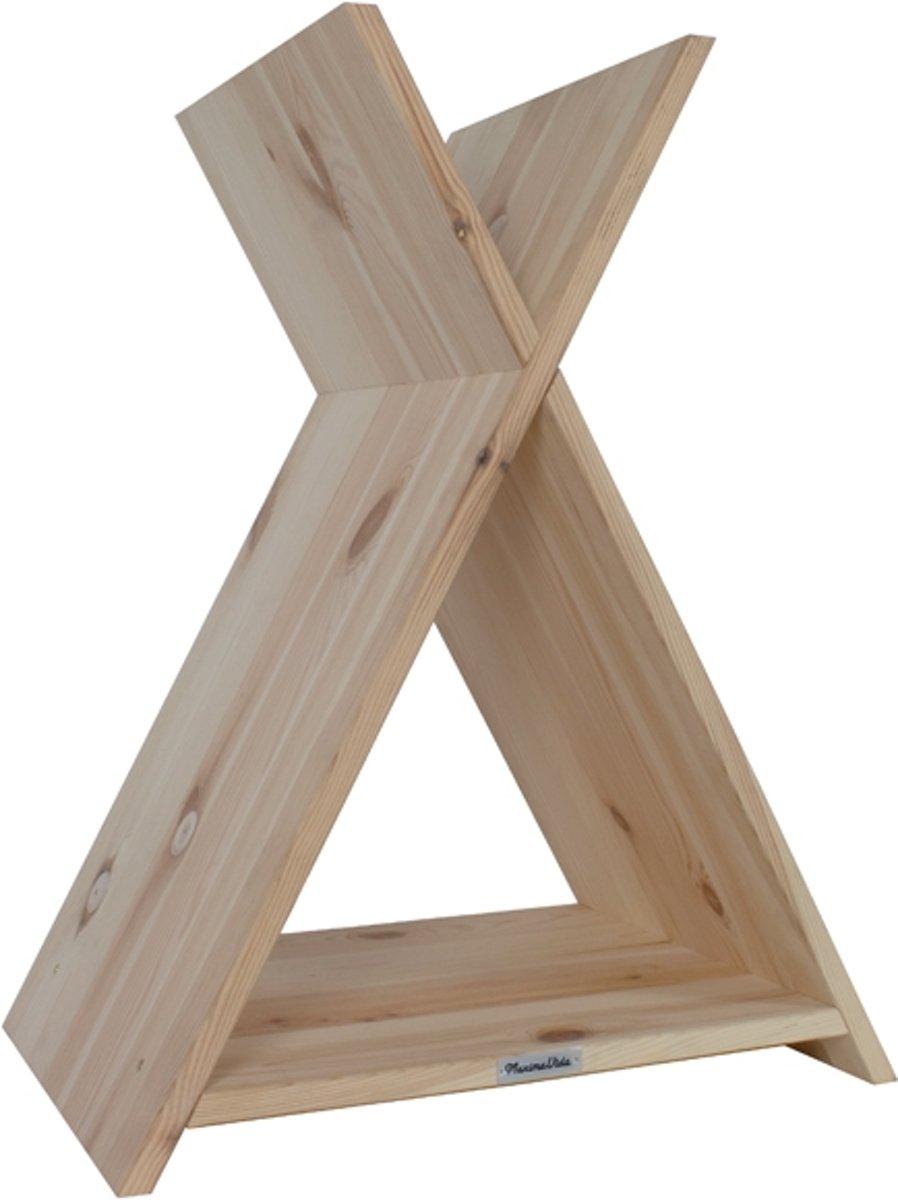 Luxe naturel houten kattentipi en krabpaal- in verstek gezaagd