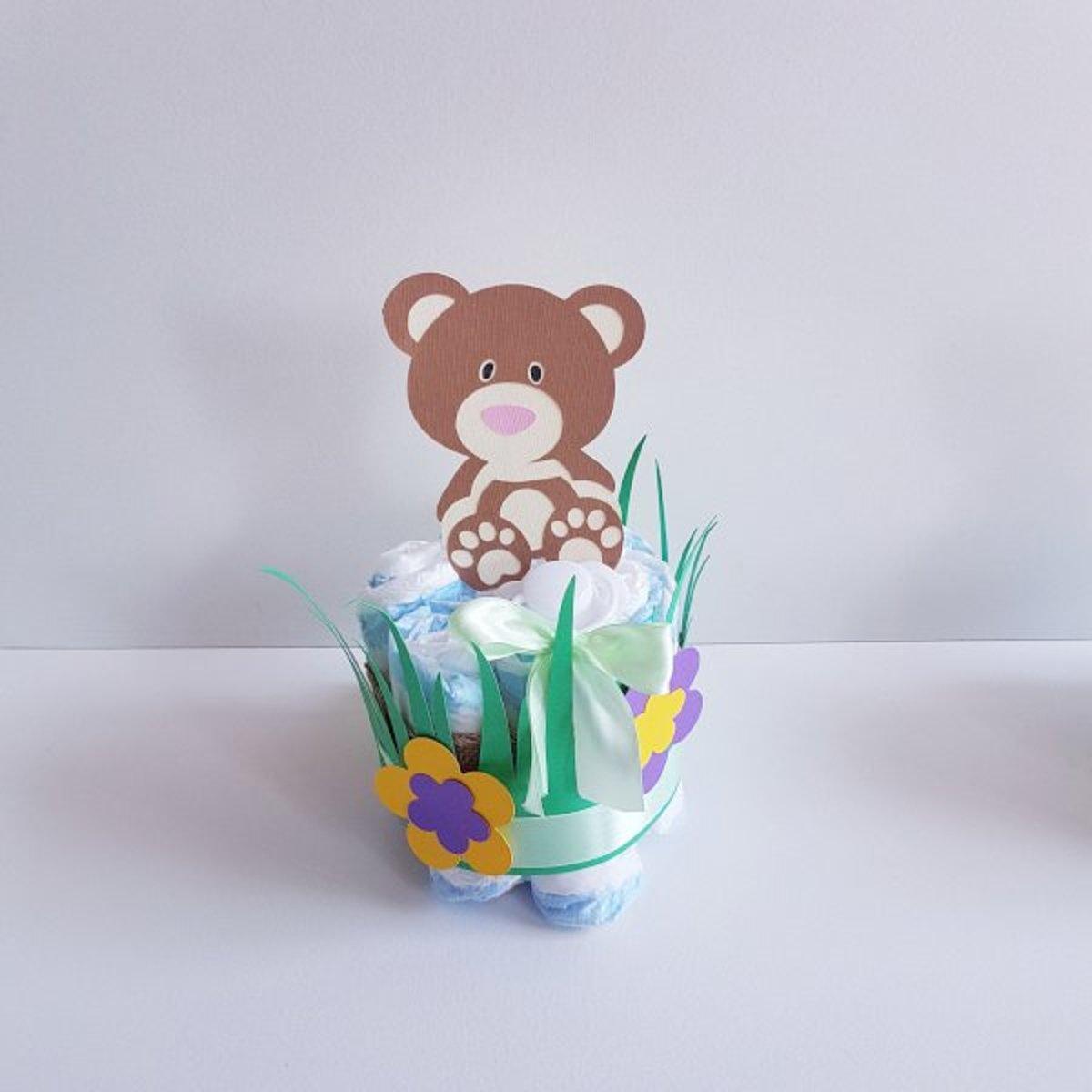 Luiertaart Babyshower Beertje | Kraamcadeau | Kraampakket | Baby Cadeau