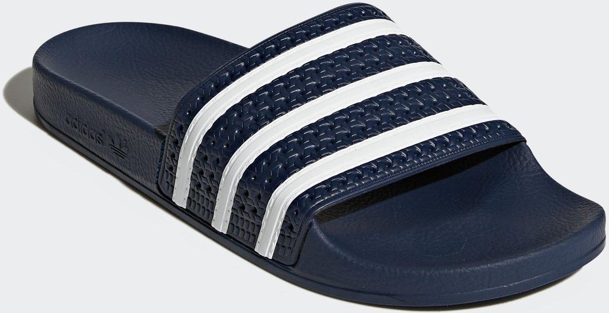 adidas Adilette Slippers Volwassenen - Adi Blue / White / Adi Blue - Maat  36 2/3