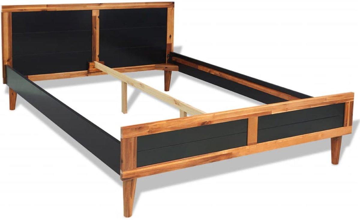 Complete Slaapkamer Voor Weinig.Bol Com Vidaxl Slaapkamer Meubelset 140x200 Cm Massief Acaciahout