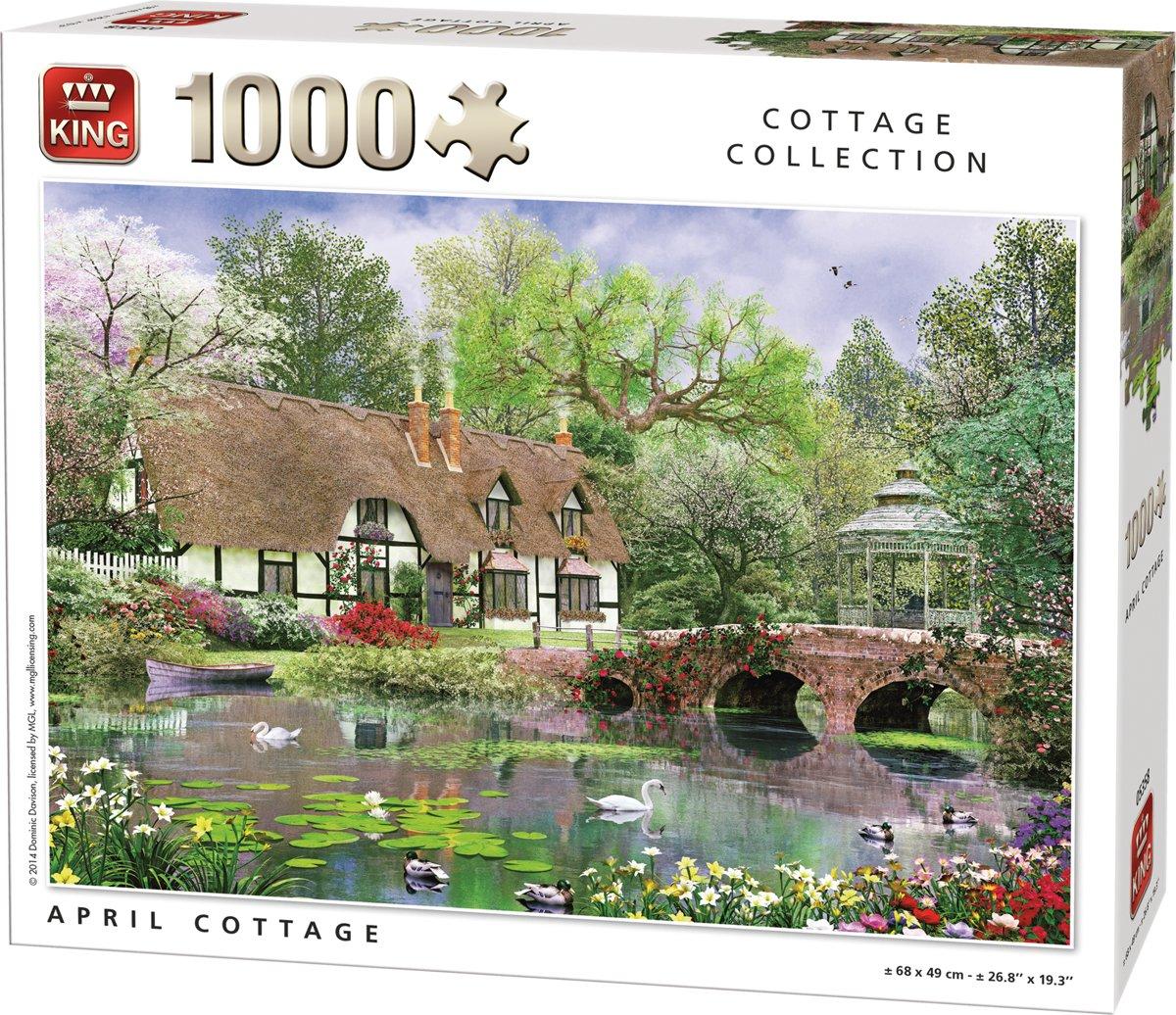 King 1000 stukjes Puzzel - April Cottage - Legpuzzel kopen