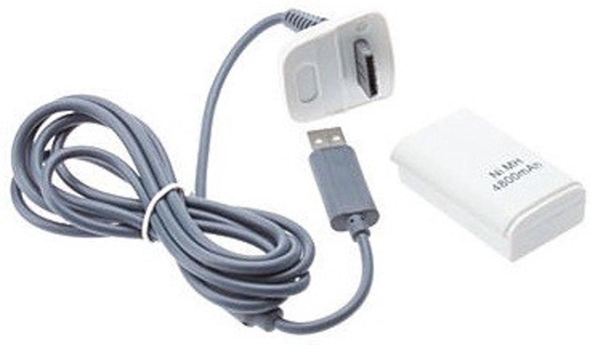 4800mAh Oplaadbare Accu Wit inclusief Oplaadsnoer Xbox 360 kopen