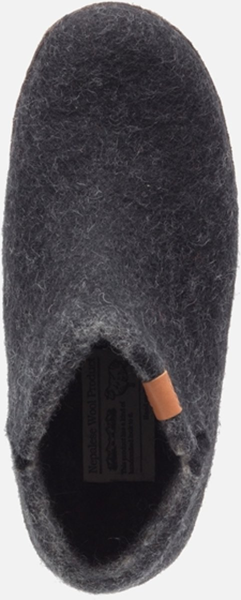 Pantoufles Confort Vert Pantoufles Faits À La Main Népalaise 15242 Taille Noir / Gris 45 91Jinu
