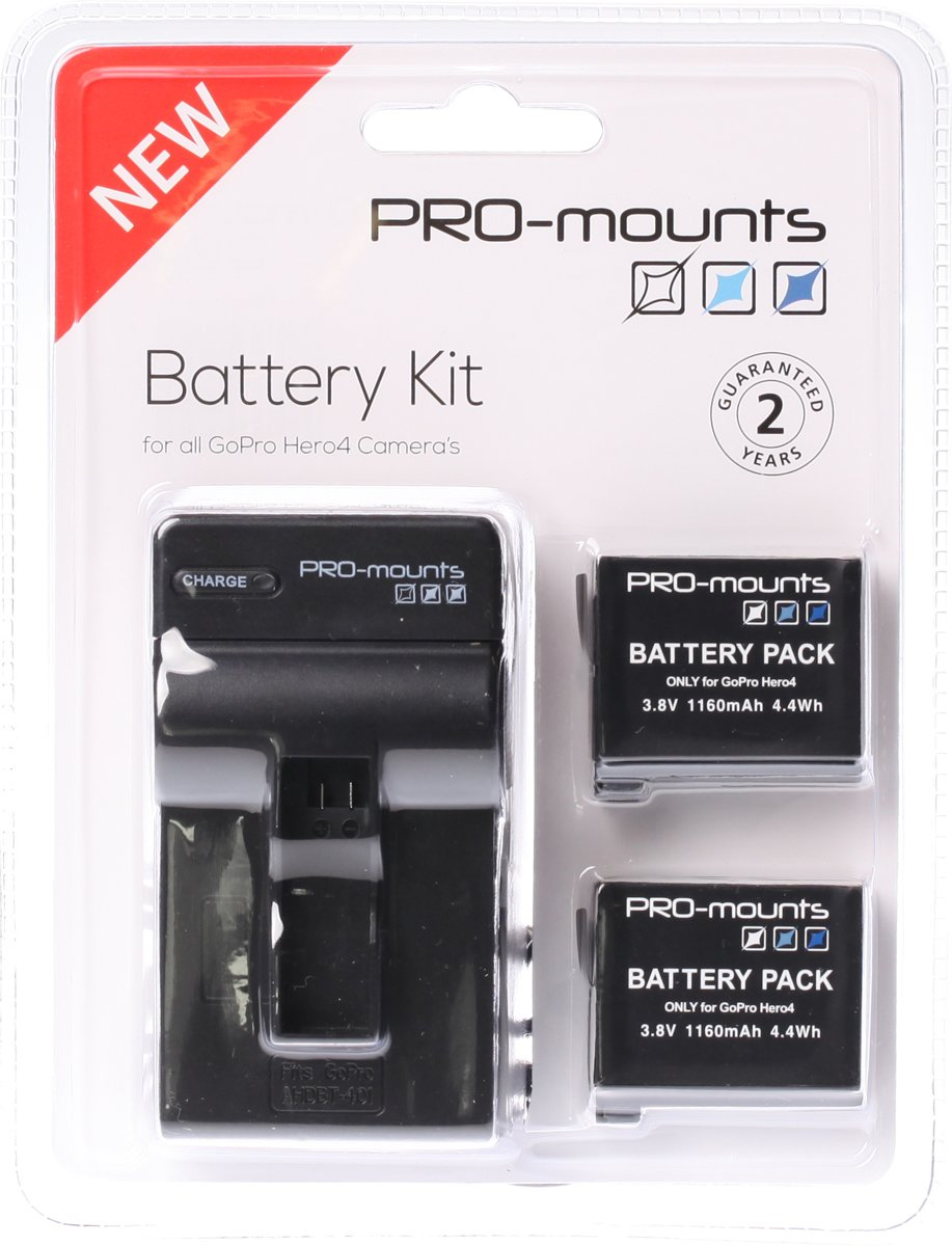 PRO-MOUNTS Battery Kit GoPro Hero 4 kopen