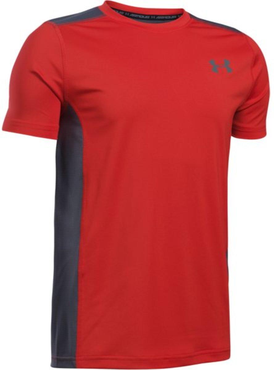 Under Armour Select T - Sportshirt - Jongens - Rood - Maat 140 thumbnail