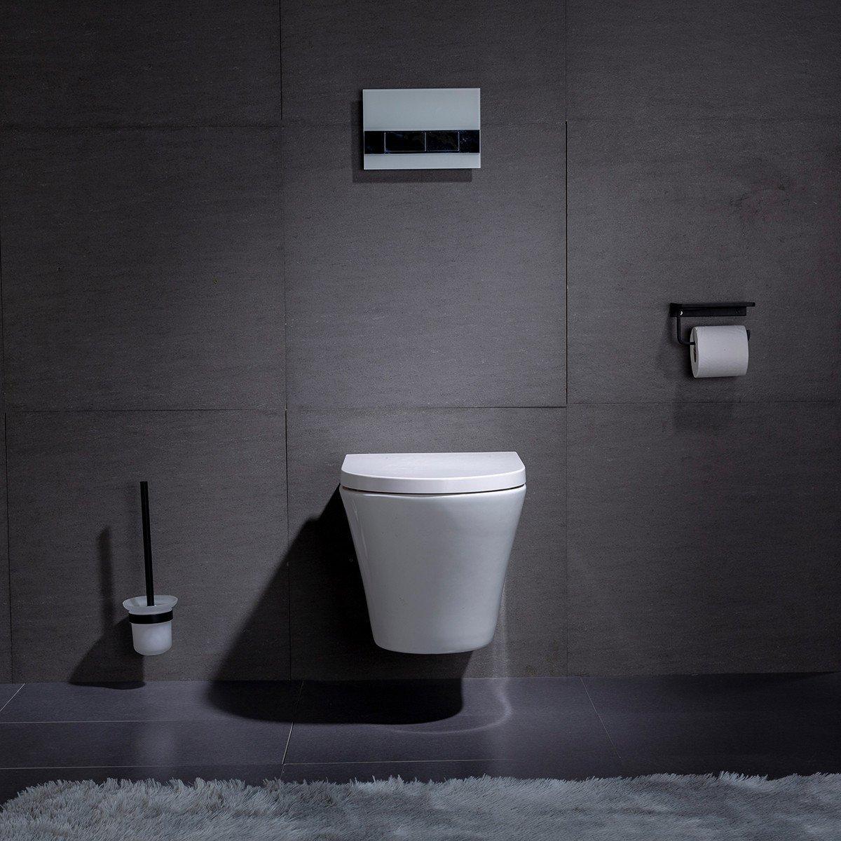 Inbouw Toilet Compleet : Bol wandcloset hangend toilet saturna inbouwtoilet