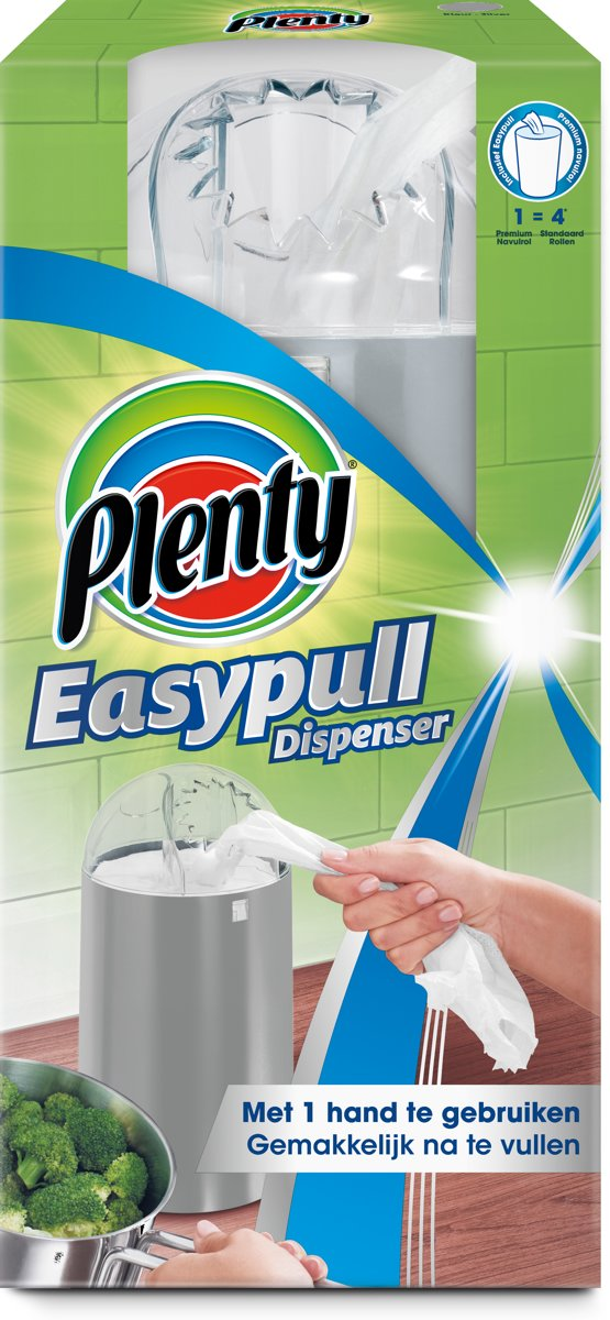Welp bol.com | Plenty Easypull Mobile Dispenser Metallic incl. Navulrol ND-98