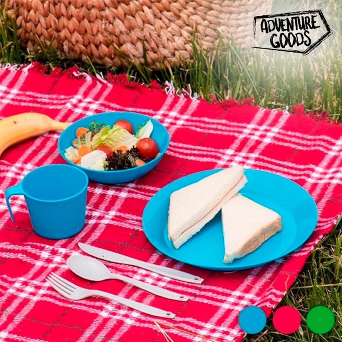Bo Camp Picknickset.Bol Com Picknickset 6 Stuks Blauw