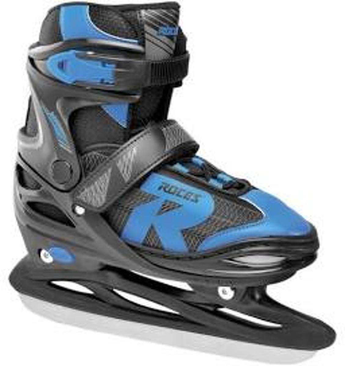 Roces Ijshockeyschaatsen Jokey Jongens Zwart/blauw Maat 30-33