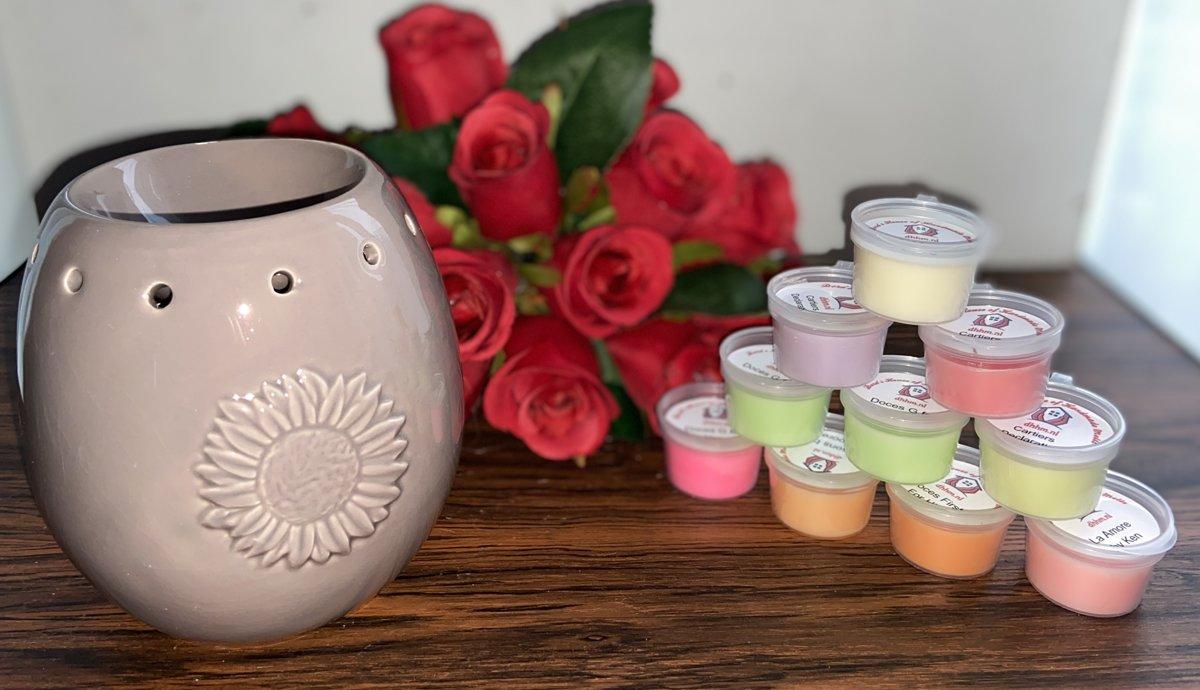 Wax Melts (parfum)geuren verrassingspakket met 10 geuren incl. DHHM | Geurbrander | Bloem | Taupe