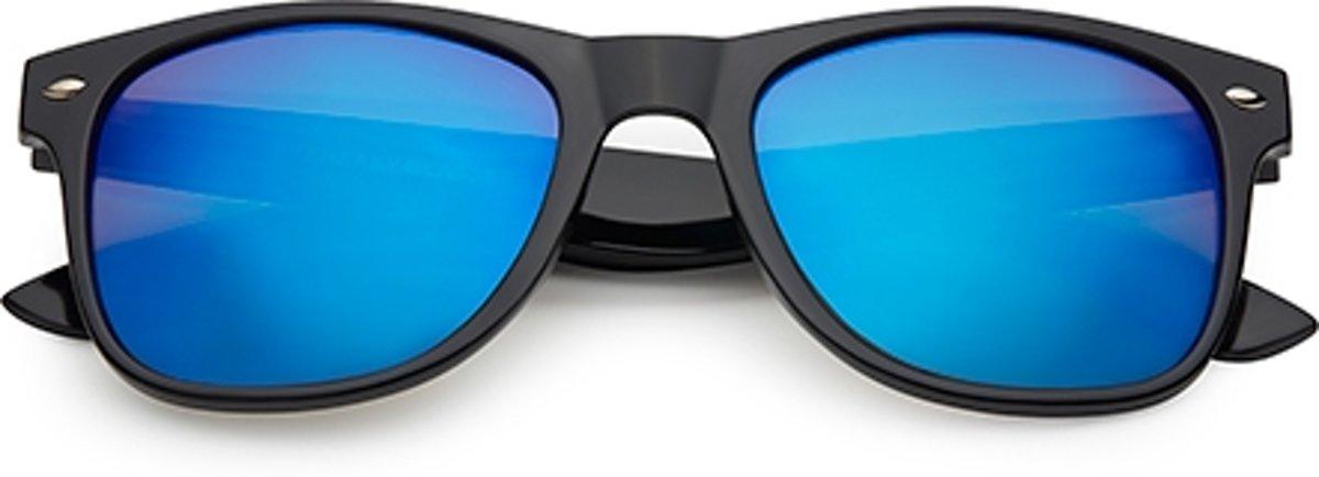 Spacebril spiegel blauw   zwart kopen