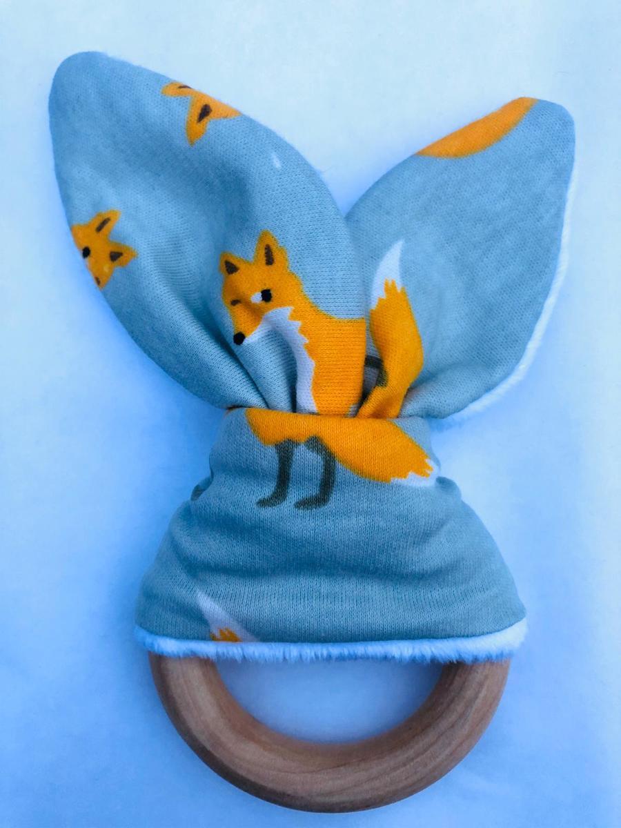 Bijtring knisper Bunny ears -Dino kopen