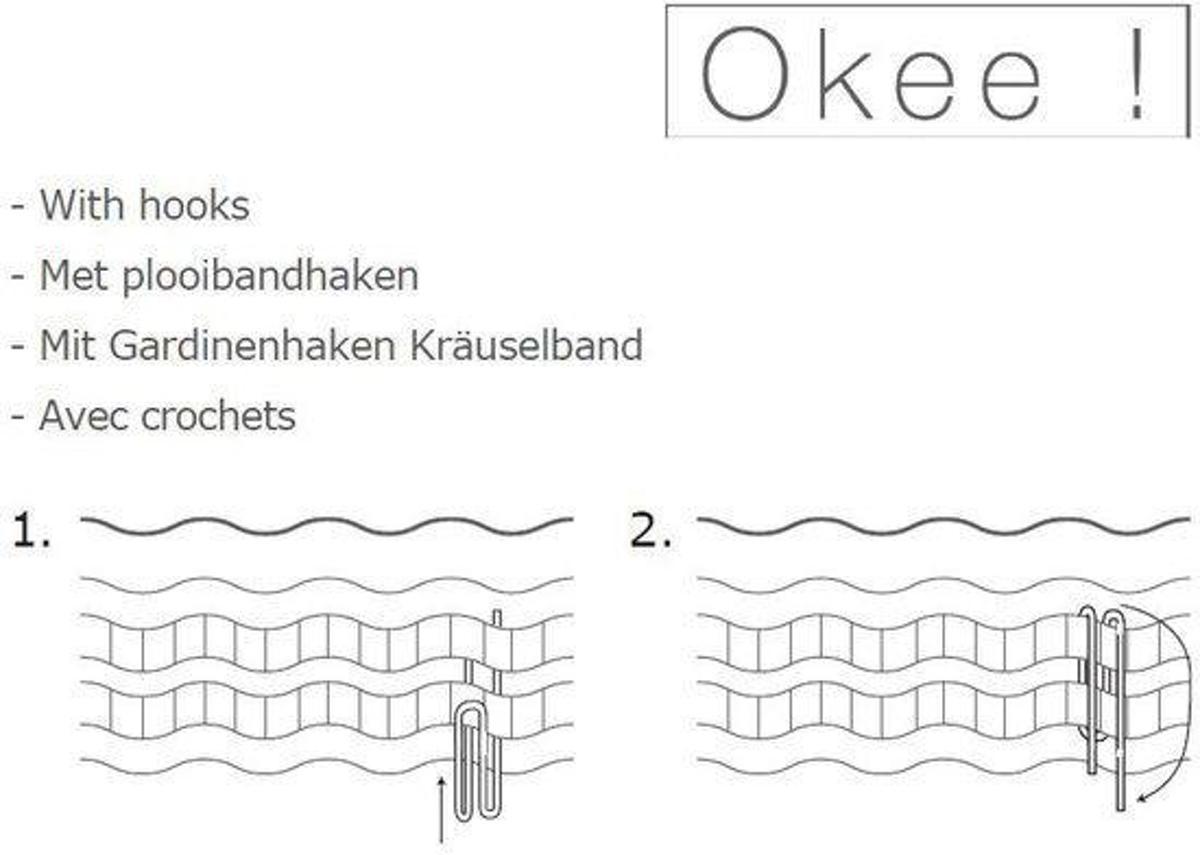 bol.com | Okee! Flavor - Kant en klaar gordijn - Antraciet - 140x180 ...
