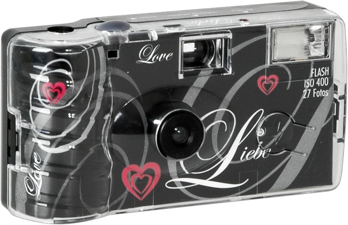 Single use Camera Flash 400 27 Love Zwart kopen