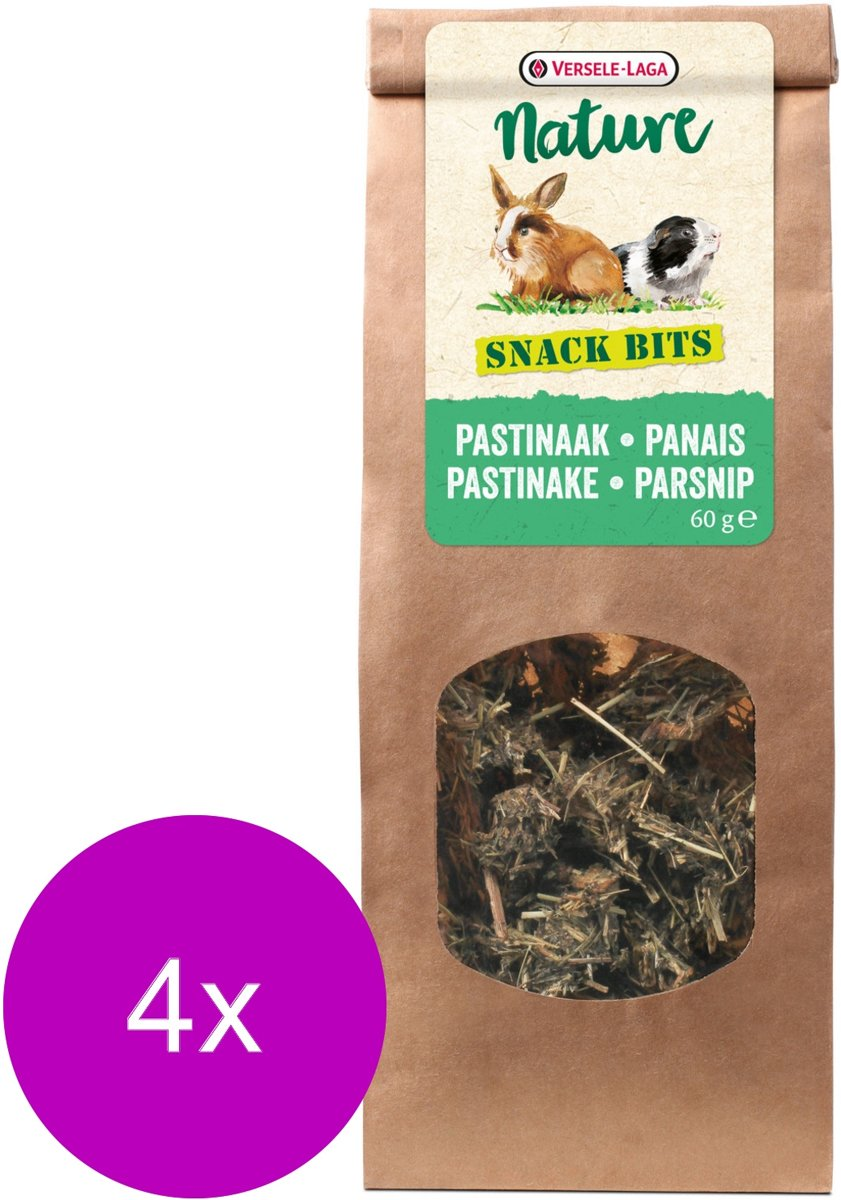 Versele-Laga Nature Snack Bits Parsnip - Knaagdiersnack - 4 x Pastinaak 60 g