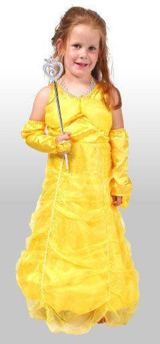 Prinses Irene gele jurk Maat 140 - 152