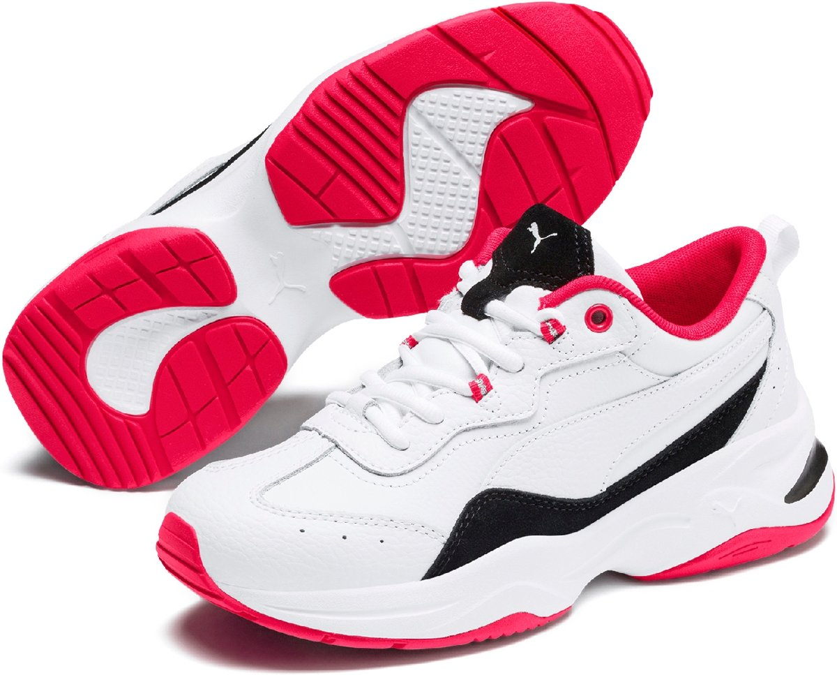 PUMA Cilia Lux Sneakers Dames Puma White Puma Black Nrgy Rose Puma Silver Maat 38
