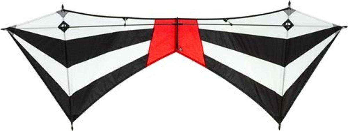 Invento Quad-line Vlieger Meteor R2f 200 Cm Zwart/wit