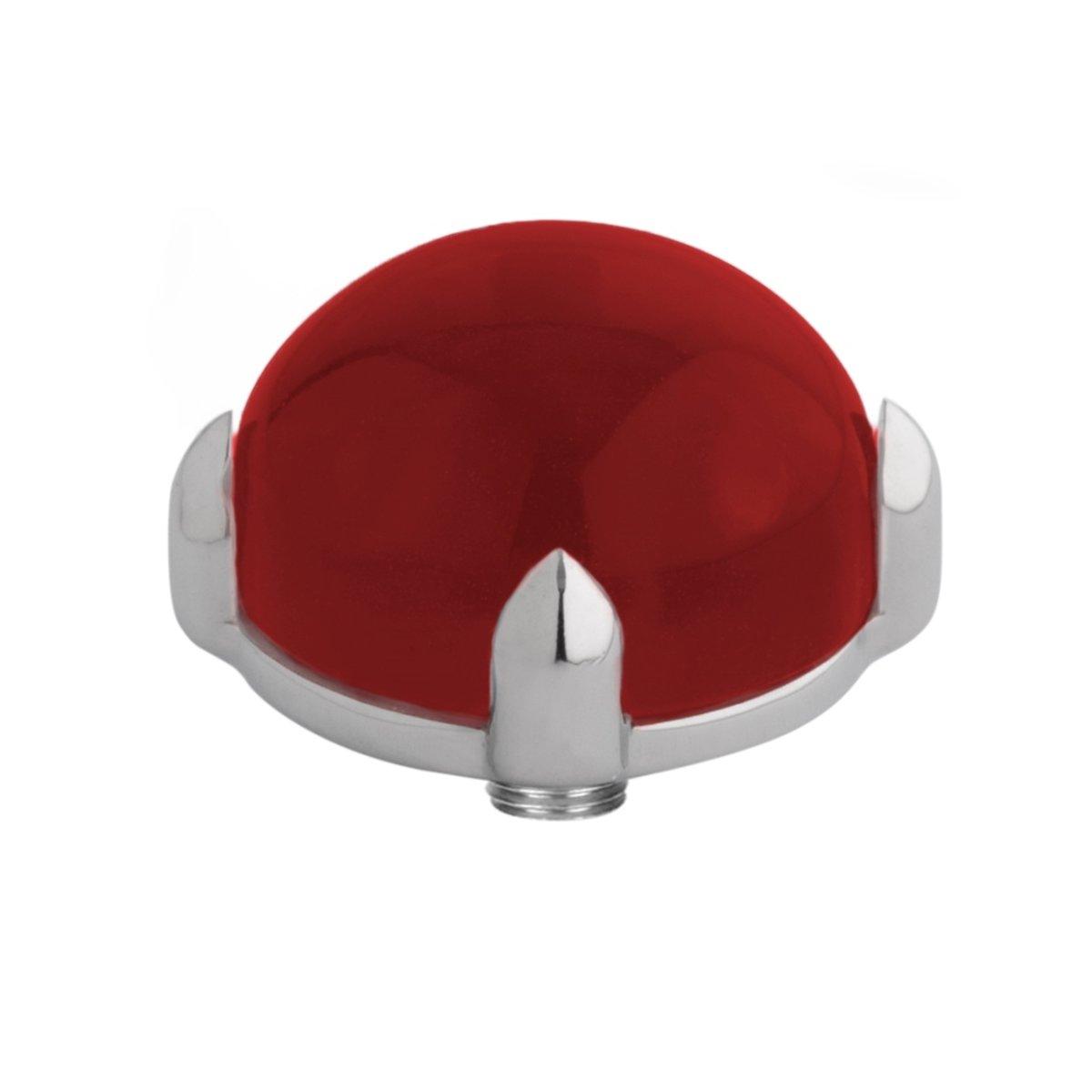 Melano twisted steen bold - Zilverkleurig + Dark red - Dames - 12mm kopen