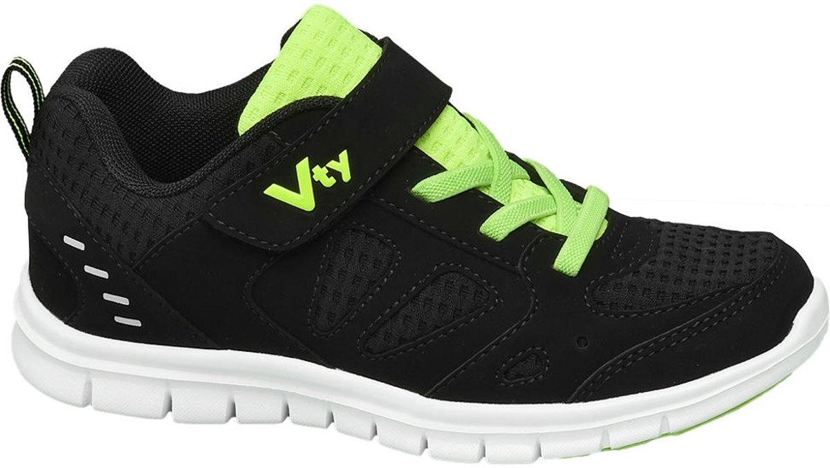 Victory Kinderen Zwarte sneaker elastische vetersluiting - Maat 34 kopen
