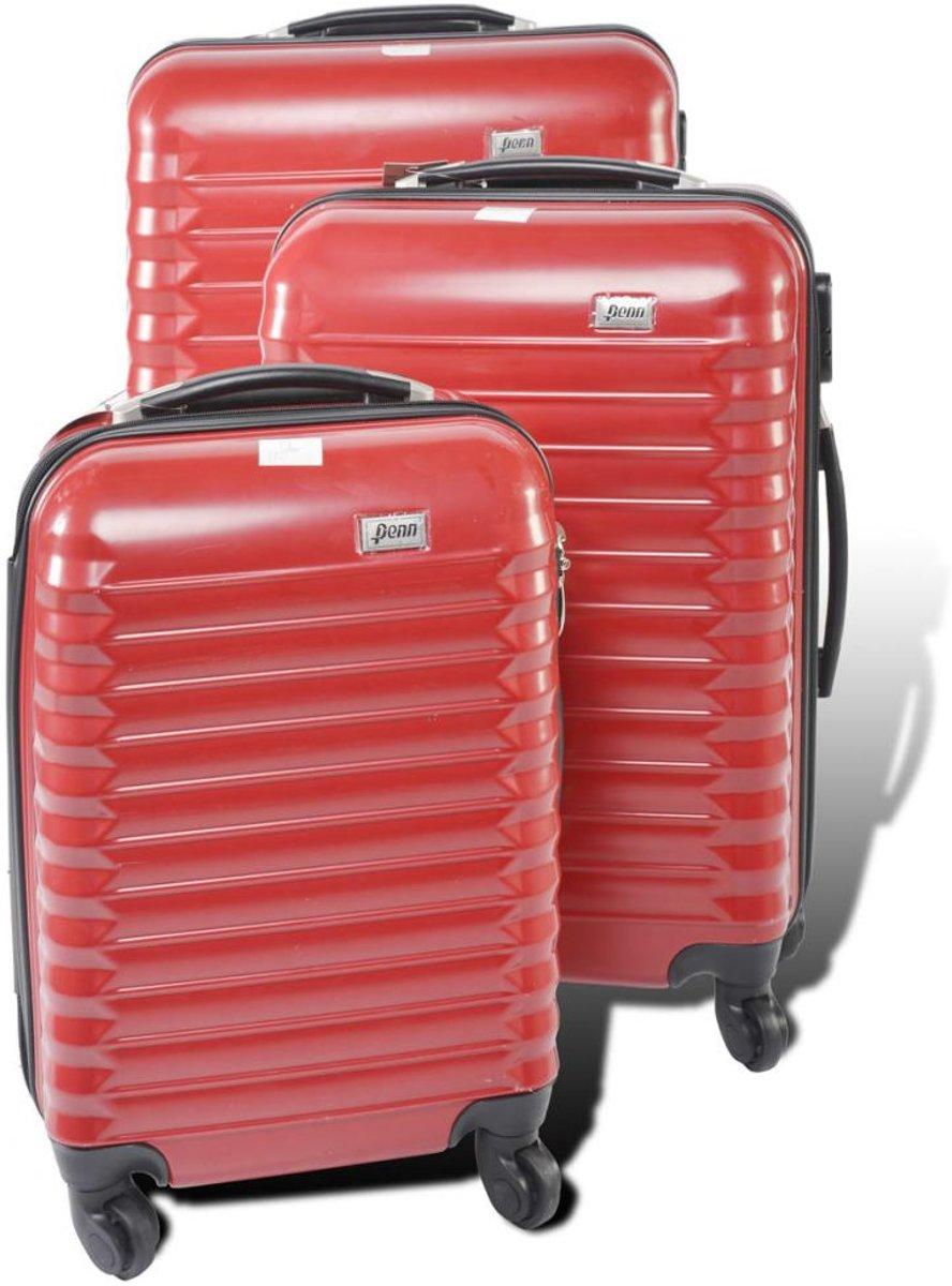 "Penn Harde kofferset 18""/22""/26"" rood kopen"
