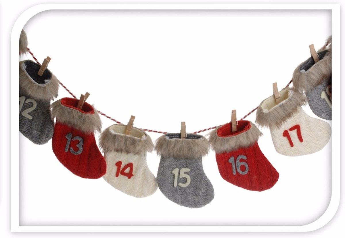 Kerst advent slinger kerstsokjes kopen