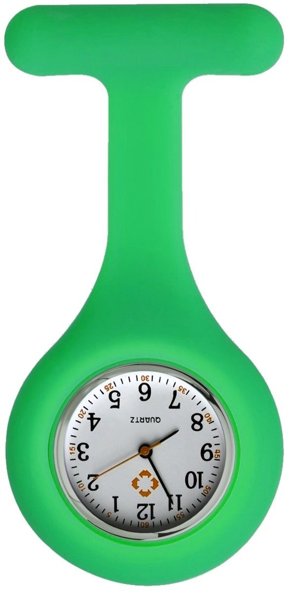 Fako Bijoux® - Verpleegstershorloge - Siliconen RVS Uni - Groen kopen
