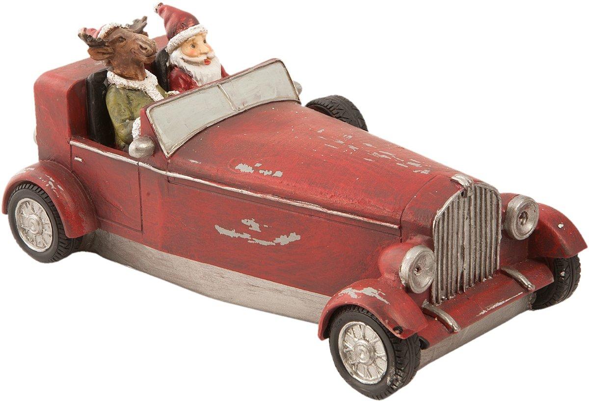 Kerstman in auto 18*9*9 cm Rood   6PR1150   Clayre & Eef kopen