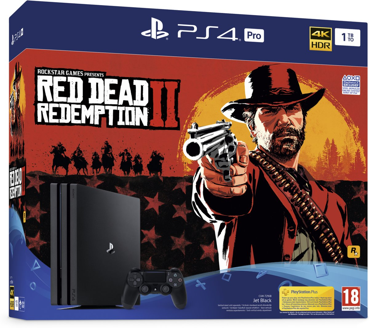 PS4 Pro Console 1TB + Red Dead Redemption 2 PlayStation 4