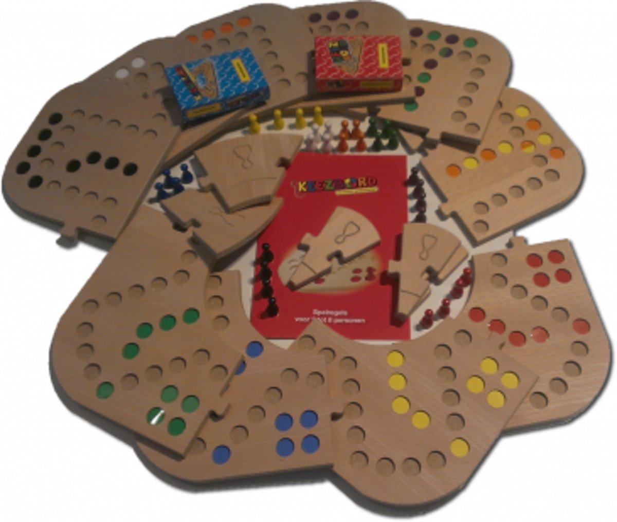Keezbord Totaalbox Hout 8 Personen -  Keezen bordspel